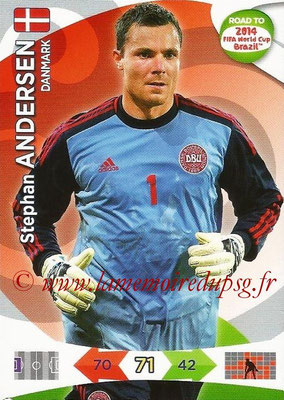 2014 - Panini Road to FIFA World Cup Brazil Adrenalyn XL - N° 037 - Stephan ANDERSEN (Danemark)