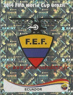 2014 - Panini FIFA World Cup Brazil Stickers - N° 355 - Ecusson Equateur
