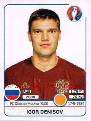 Panini Euro 2016 Stickers - N° 170 - Igor DENISOV (Russie)
