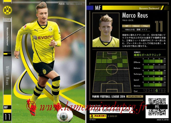 Panini Football League 2014 - PFL08 - N° 092 - Marco REUS (Borussia Dortmund) (Star)
