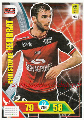 2017-18 - Panini Adrenalyn XL Ligue 1 - N° 093 - Christophe KERBRAT (Guingamp)