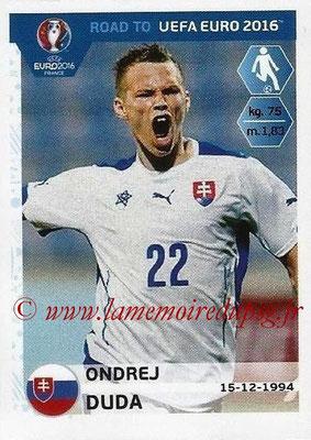 Panini Road to Euro 2016 Stickers - N° 318 - Ondrej DUDA (Slovaquie)