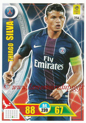2017-18 - Panini Adrenalyn XL Ligue 1 - N° 256 - Thiago SILVA (Paris Saint-Germain)