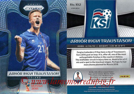 2018 - Panini Prizm FIFA World Cup Russia - N° 102 - Arnor Ingvi TRAUSTASON (Islande)