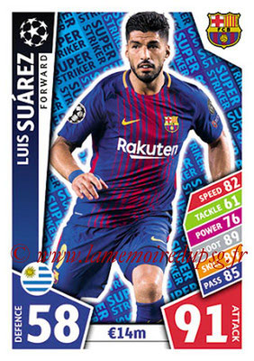 2017-18 - Topps UEFA Champions League Match Attax - N° SS02 - Luis SUAREZ (FC Barcelone) (Super Strikers)