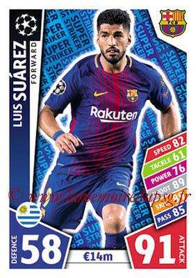 2017-18 - Topps UEFA Champions League Match Attax - N° SS02 - Luis SUAREZ (FC Barcelone) (Super Strikers)