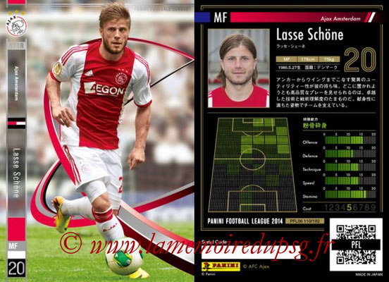 Panini Football League 2014 - PFL06 - N° 110 - Lasse SCHÖNE (Ajax Amsterdam) (Star)