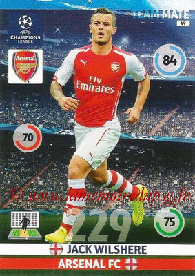 2014-15 - Adrenalyn XL champions League N° 049 - Jack WILSHERE (Arsenal FC)