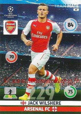 2014-15 - Adrenalyn XL champions League N° 049 - Jack WILSHERE (Arsenal FC)