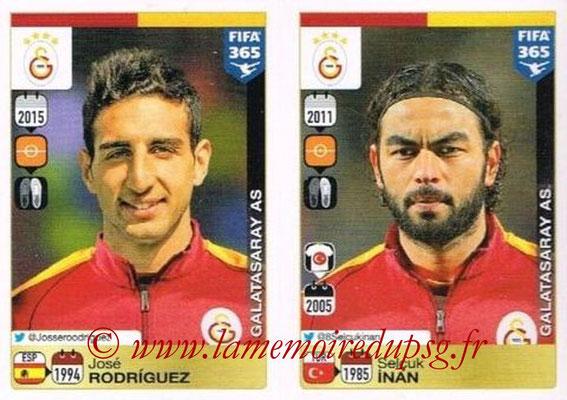 2015-16 - Panini FIFA 365 Stickers - N° 770-771 - José RODRIGUEZ + Selçuk INAN (Galatasaray AS)