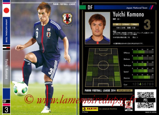 Panini Football League 2014 - PFL06 - N° 123 - Yuichi KOMANO (Japon)
