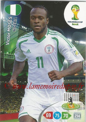 2014 - Panini FIFA World Cup Brazil Adrenalyn XL - N° 265 - Victor MOSES (Nigeria)