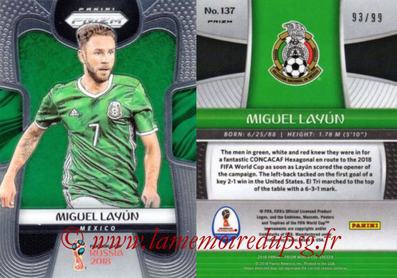 2018 - Panini Prizm FIFA World Cup Russia - N° 137 - Miguel LAYUN (Mexique)