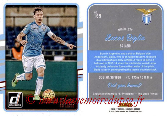 2016 - Panini Donruss Cards - N° 165 - Lucas BIGLIA (SS Lazio)