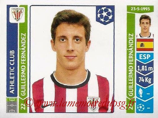2014-15 - Panini Champions League N° 614 - Guillermo FERNANDEZ (Athletic Club Bilbao)