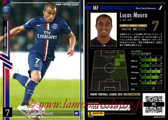 Panini Football League 2015 - PFL11 - N° 050 - LUCAS Moura (Paris Saint-Germain)
