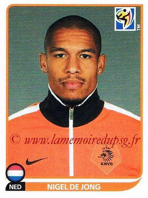 2010 - Panini FIFA World Cup South Africa Stickers - N° 343 - Nigel DE JONG (Pays Bas)