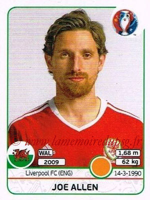 Panini Euro 2016 Stickers - N° 190 - Joe ALLEN (Pays de Galles)