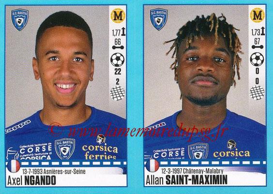 2016-17 - Panini Ligue 1 Stickers - N° 080 + 081 - Axel NGANDO + Allan SAINT-MAXIMIN (Bastia)