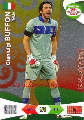 2014 - Panini Road to FIFA World Cup Brazil Adrenalyn XL - N° 214 - Gianluigi BUFFON (Italie) (Goal Stopper)