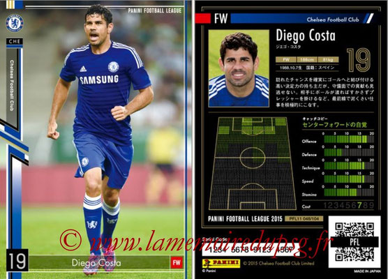 Panini Football League 2015 - PFL11 - N° 048 - Diego COSTA (FC Chelsea)