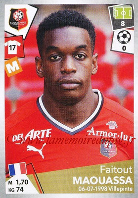 2017-18 - Panini Ligue 1 Stickers - N° 406 - Faitout MAOUASSA (Rennes)