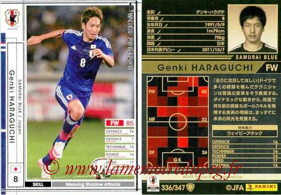 2015-16 - Panini WCCF - N° 336 - Genki  HARAGUCHI (Japon)