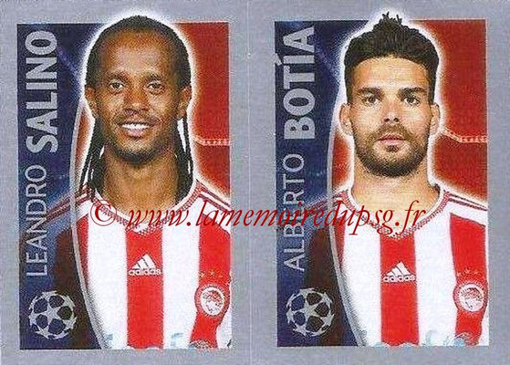 2015-16 - Topps UEFA Champions League Stickers - N° 420 - Leandro SALINO + Alberto BOTIA (Olympiacos FC)