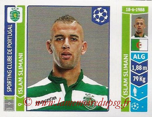 2014-15 - Panini Champions League N° 542 - Islam SLIMANI (Sporting Club de Portugal)