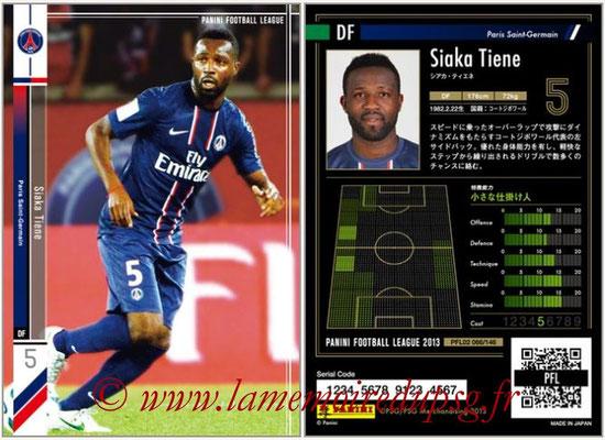 Panini Football League 2013 - PFL02 - N° 066 - Siaka Tiene ( Paris Saint-Germain )