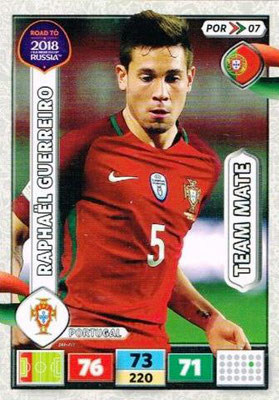 2018 - Panini Road to FIFA World Cup Russia Adrenalyn XL - N° POR07 - Raphael GUERREIRO (Portugal)