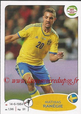 2014 - Panini Road to FIFA World Cup Brazil Stickers - N° 354 - Mathias RANEGIE (Suède)