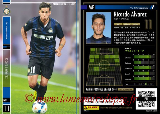 Panini Football League 2014 - PFL07 - N° 019 - Ricardo ALVAREZ (Inter)