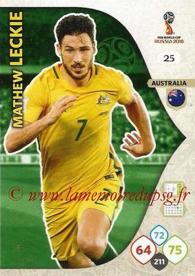 2018 - Panini FIFA World Cup Russia Adrenalyn XL - N° 025 - Mathew LECKIE (Australie)