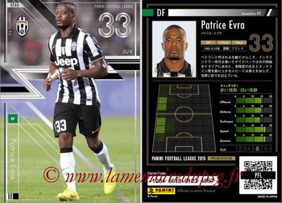 Panini Football League 2015 - PFL09 - N° 010 - Patrice EVRA (Juventus Turin) (Star)