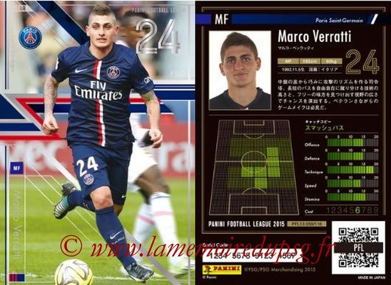 Panini Football League 2015 - PFL13 - N° 059 - Marco VERRATTI (Paris Saint-Germain) (Star)