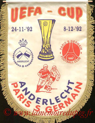 Grands Fanions  PSG-SC Anderlecht  1992-93