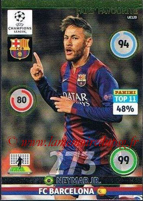 2014-15 - Adrenalyn XL champions League Update edition N° UE120 - NEYMAR (FC Barcelone) (Fans' Favourite)