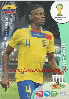 2014 - Panini FIFA World Cup Brazil Adrenalyn XL - N° 123 - Juan Carlos PAREDES (Equateur) (Utility Player)