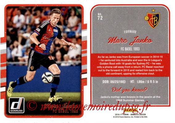 2016 - Panini Donruss Cards - N° 072 - Marc JANKO (FC Bâle)