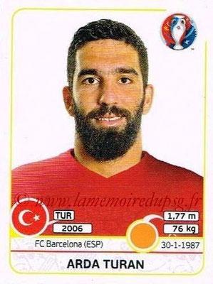 Panini Euro 2016 Stickers - N° 419 - Arda TURAN (Turquie)