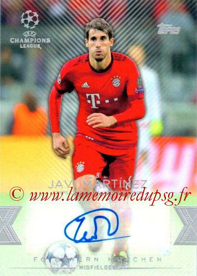 2015-16 - Topps UEFA Champions League Showcase Soccer - N° CLA-JM - Javi MARTINEZ (FC Bayern Munich) (Base Autographs Cards)