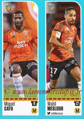 2016-17 - Panini Ligue 1 Stickers - N° 308 + 309 - Miguel CAFU + Walid WESLOUB (Lorient)