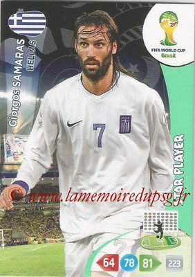 2014 - Panini FIFA World Cup Brazil Adrenalyn XL - N° 184 - Giorgos SAMARAS (Grèce) (Star Player)