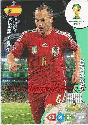 2014 - Panini FIFA World Cup Brazil Adrenalyn XL - N° 150 - Andres INIESTA (Espagne) (Star Player)