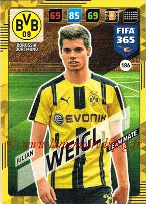 2017-18 - Panini FIFA 365 Cards - N° 186 - Julian WEIGL (Borussia Dortmund)