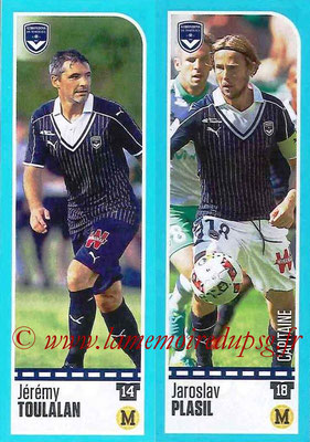 2016-17 - Panini Ligue 1 Stickers - N° 098 + 099 - Jérémy TOULALAN + Jaroslav PLASIL (Bordeaux)