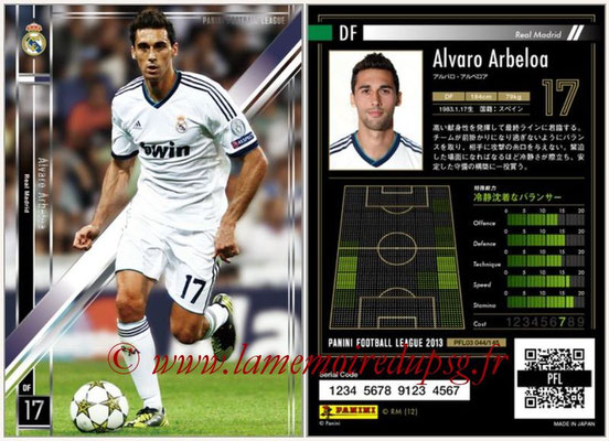 Panini Football League 2013 - PFL03 - N° 044 - Alvaro Arbeloa (Real Madrid)