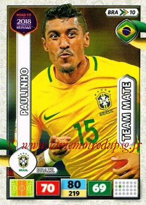 2018 - Panini Road to FIFA World Cup Russia Adrenalyn XL - N° BRA10 - PAULINHO (Brésil)