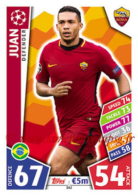 2017-18 - Topps UEFA Champions League Match Attax - N° 382 - JUAN (AS Roma)